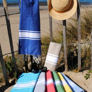 Fouta plat Authentique, serviette de plage