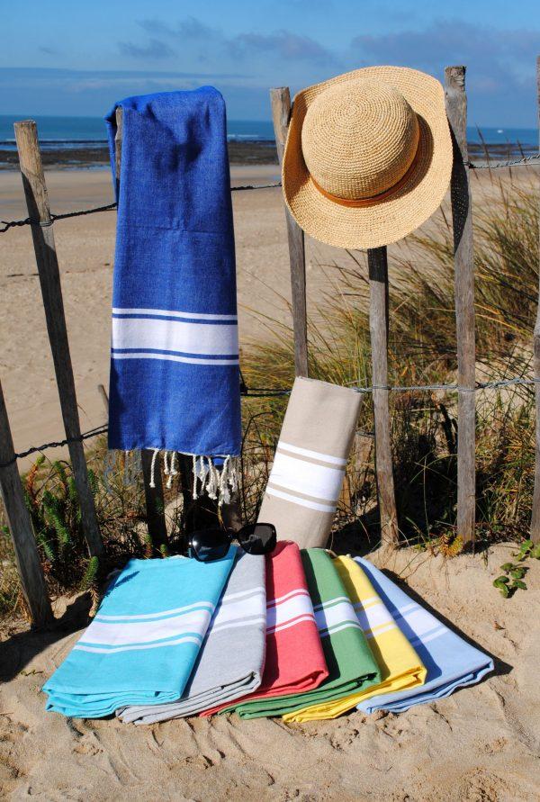Fouta plat Authentique, serviette de plage
