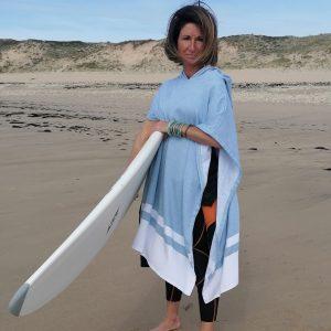 Poncho à capuche Adulte Surf et plage