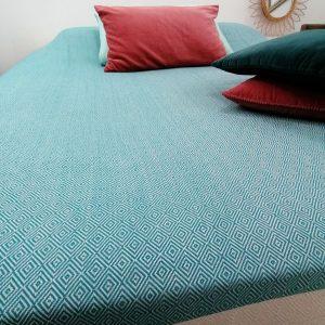 Couvre-lit, jeté de canapé XXL Diamant 100% coton