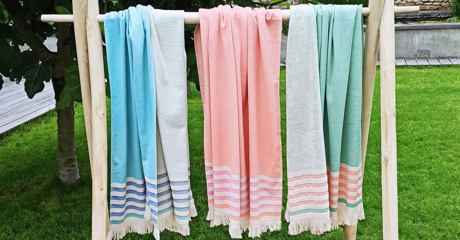 Collection Fouta Peshtemal doublé éponge Sunny