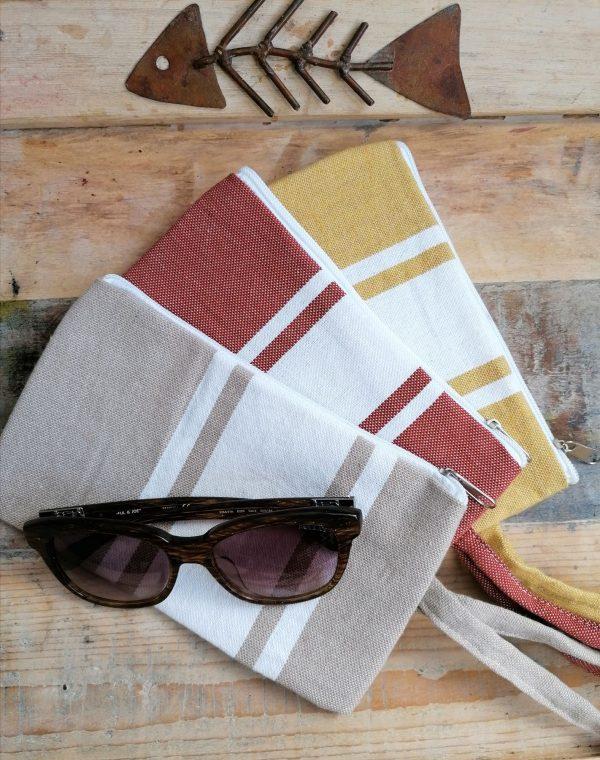 Pochette de plage chic et colorée